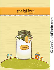 pure biological food jar in vector format