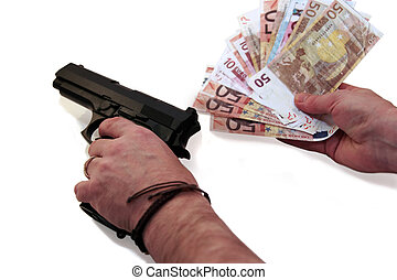 drug money 8 - concept of a drug deal or gun hire going down...