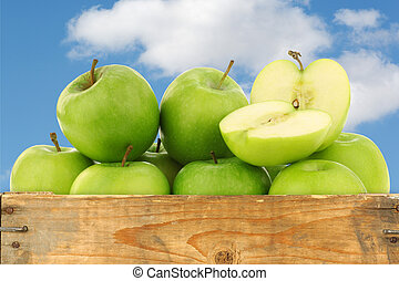 """Granny Smith"" apples - freshly harvested ""Granny Smith""..."