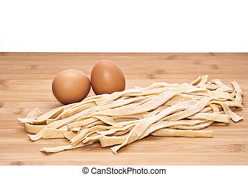 fresh egg noodles homemade. italian pasta