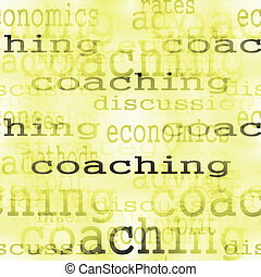 concept coaching word business background
