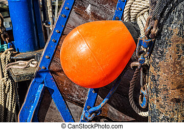 Detail of a fishing boat.
