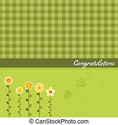 congratulation floral card