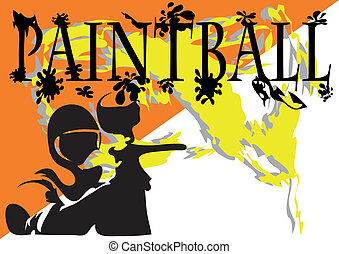 paintball. abstract background. 10 EPS without gradients