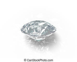 single brilliant - An isolated brilliant cut diamond on...