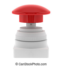 Red push emergency button