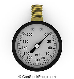 Rendered pressure gauge
