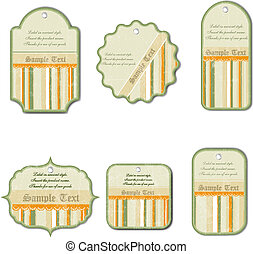 set of vintage labels isolated on white background, vector