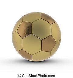 Rendered 3D soccer ball