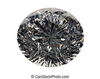 Rendered 3D diamond