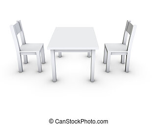 silla, tabla