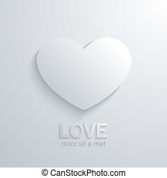 Heart love concept. Wedding card design template.