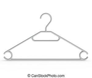 3D rendered white Coat Hanger