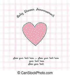 baby shower card with heart