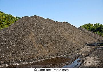 Stock Pile of Coal - A Large Stock Pile of Coal