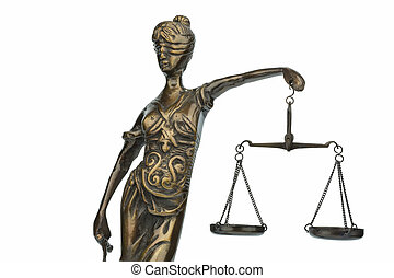 sculpture of justitia - sculpture of lady justice, symbol...