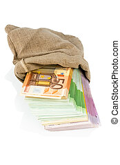 bills in a sack - bills in a bag, photo icon for savings,...