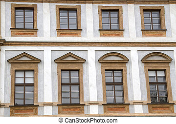 Windows Background - Background of old building in Prauge