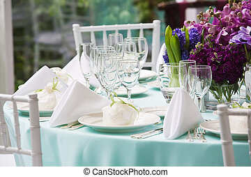 Wedding table set for fin - Table set for a special event
