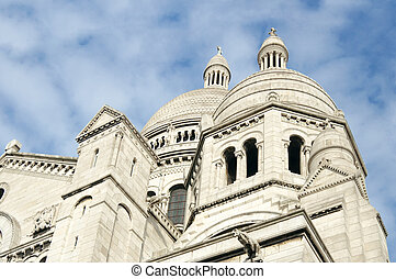 Sacre Coeur Basilica 1914, Paris, France - Side view of...
