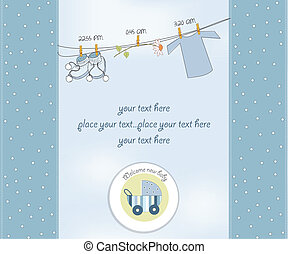 new baby boy shower card