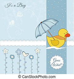 baby shower card with duck toy