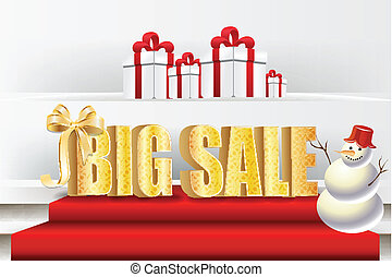 3D big sale, made of pure, beautiful luxury gold
