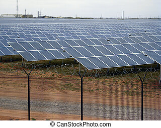 solar power panel energy farm construction