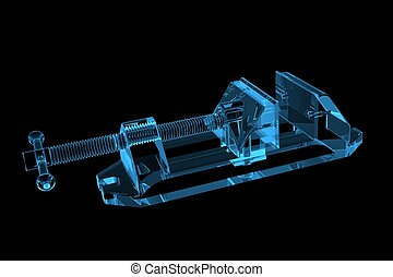 Vise 3D X-Ray Blue Transparent