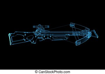 Crossbow (3D xray blue transparent)