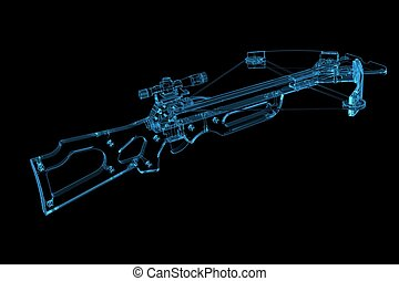 Crossbow 3D xray blue transparent
