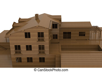 House made of wood
