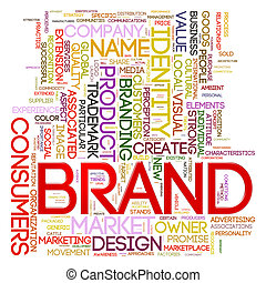 Brand wordcloud - Illustration of words tags of brand...