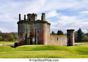 Caerlaverock Castle, Dumfries and Galloway. - A view of...