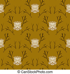 Modern damask pattern in hipster style - Modern version of...