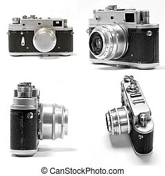set of analog photo camera - set of old analog photo camera
