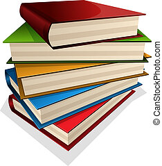 pile of books - Vector illustration pile of books isolated...