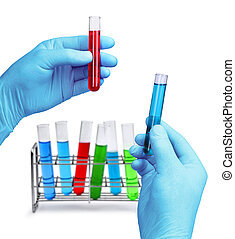 Laboratory test equipment - Hands hold laboratory test...