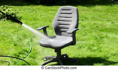 office chair wash stream - office chair seat washing under...