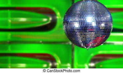 disco mirror ball green slowly