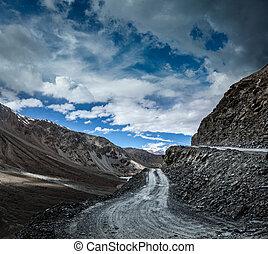 Dirt road in Himalayas.