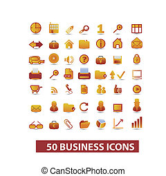 business presentation icons set, vector