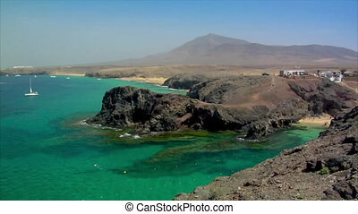 famous papagayo beach super wide