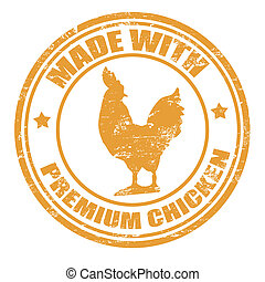Made with premium chicken stamp