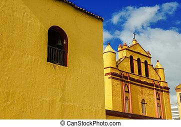 Yellow Colonial Church