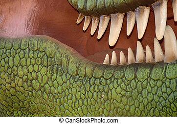 dinossauro, dentes