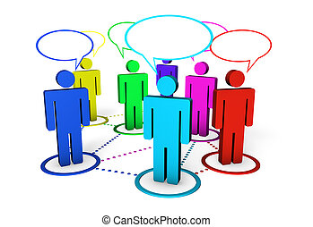 Internet Community And Social Networking Concept - Internet...