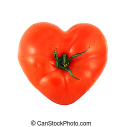 Tomato shaped like heart - One tomato shaped like heart...
