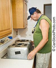 Installing Kitchen Sink