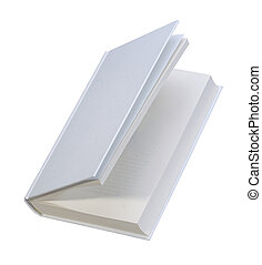 White, plain, open book for design layout - White, plain...